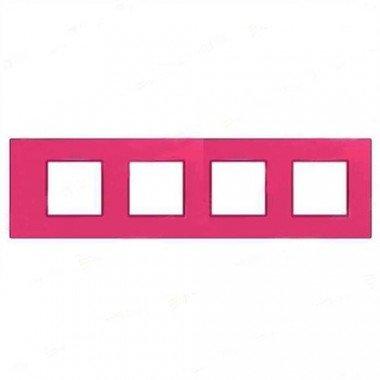 """Рамка 4-постовая  Schneider Electric Unica Quadro, """"Lipstyk"""" (малиновый) - описание, характеристики, отзывы"""