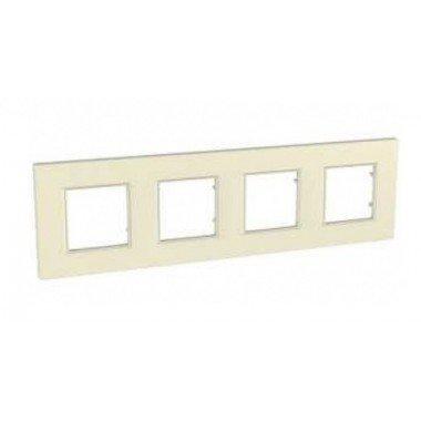 Рамка 4-постовая Schneider Electric Unica Quadro, камень - описание, характеристики, отзывы