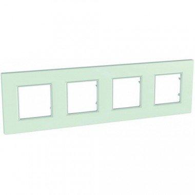 Рамка 4-постовая Schneider Electric Unica Quadro, стекло - описание, характеристики, отзывы