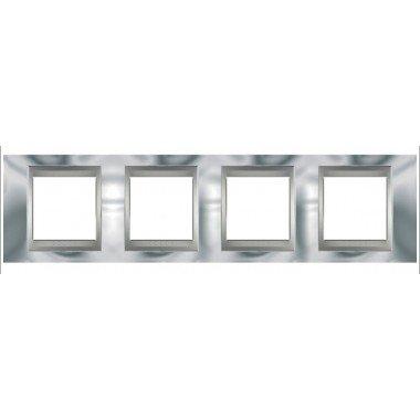 Рамка 4-постовая  Schneider Electric Unica ТОР, хром глянцевый/алюминий - описание, характеристики, отзывы