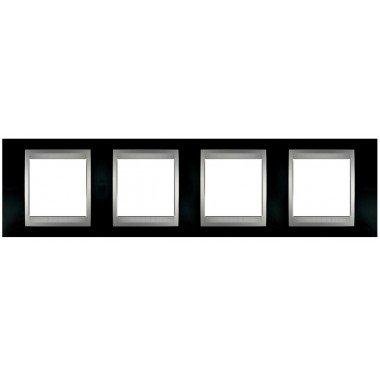 Рамка 4-постовая  Schneider Electric Unica ТОР, родий/алюминий - описание, характеристики, отзывы