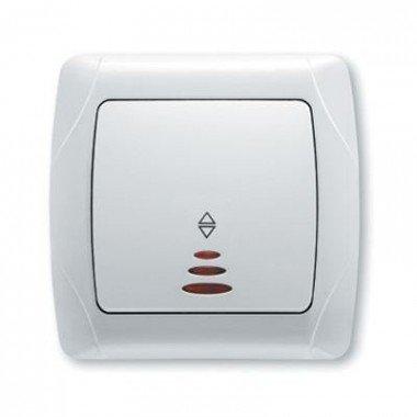 Выключатель 1-клавишный проходной с подсветкой ViKO Carmen, белый  - описание, характеристики, отзывы