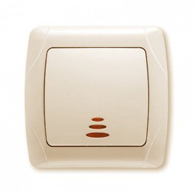 Выключатель 1-клавишный с подсветкой ViKO Carmen, крем - описание, характеристики, отзывы