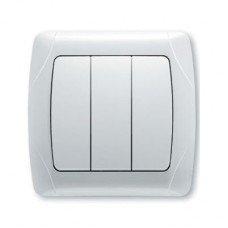 Выключатель 3-клавишный ViKO Carmen, белый