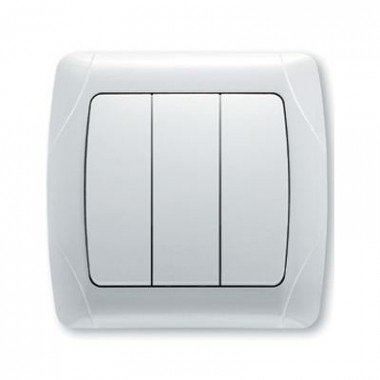 Выключатель 3-клавишный ViKO Carmen, белый  - описание, характеристики, отзывы