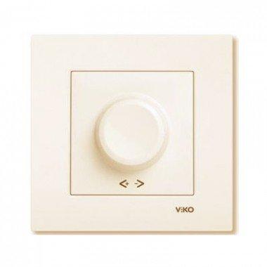 Светорегулятор 600Вт ViKO Karre, крем - описание, характеристики, отзывы