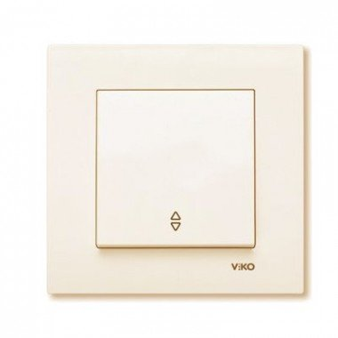 Выключатель 1-клавишный проходной ViKO Karre, крем  - описание, характеристики, отзывы