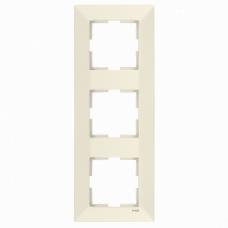 Рамка 3-ая вертикальная крем VI-KO MERIDIAN