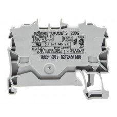 Клемма TOPJOB S 2-контактн. 2,5мм2, серая, Ex (WAGO)