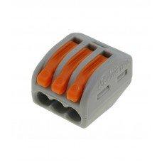 Клемма 3-контактная для распределительных коробок, подключения светильников 0,08-2,5 мм², WAGO