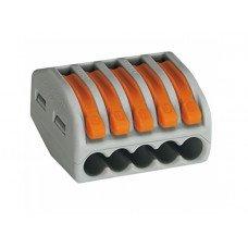 Клемма 5-контактная для распределительных коробок, подключения светильников 0,08-2,5мм², (WAGO)