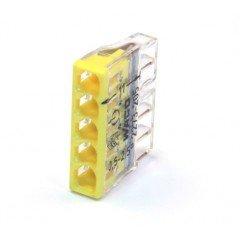 Клемма COMPACT для распределительных коробок 5х2,5, прозрачный/желтый, без пасты (WAGO)