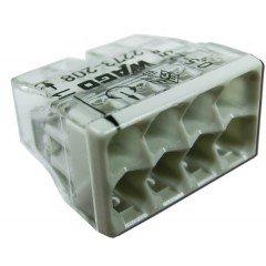 Клемма COMPACT для распределительных коробок 8х2,5, прозорачный/серый, без пасты, WAGO