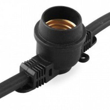 """Гирлянда """"Белт-лайт""""  CL50- 8 230V,10*Е27 шаг 50см, 8м+3м шнур, черный IP65  FERON - описание, характеристики, отзывы"""