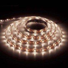 LED лента теплая белая 12В 14.4Вт 60SMD(50/50) LS607 IP65  (5м) FERON