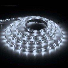 LED лента холодная белая 12В 14.4Вт 60SMD(50/50) LS607 IP65  (5м) FERON