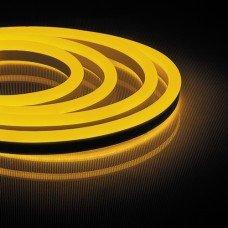 Неоновая светодиодная лента 120SMD(2835)/m 230V 9,6W/m 16*8mm желтая IP65 LS720 , FERON