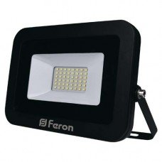Прожектор LED FERON  LL-855  50W  6400K 230V (215х185х30mm) Черный  IP 65