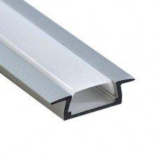 """Профиль """"встраиваемый"""" (без креплений), серебро,CAB251  2м FERON"""
