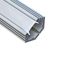 """Профиль """"угловой с фаской"""" , серебро, CAB272  2м. (23,8х10)  FERON"""