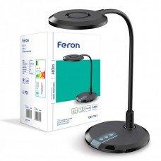 Настольный светильник FERON DE1731 черный 8W 3000K-4000К-6000К 480LM, (28*18*38cm) IP20