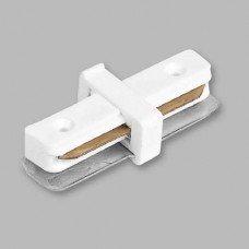 Коннектор прямой для шинопровода однофазного, белый  LD1000 FERON
