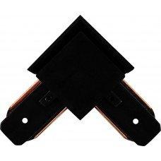 Коннектор угловой для шинопровода однофазного, черный LD1001 FERON