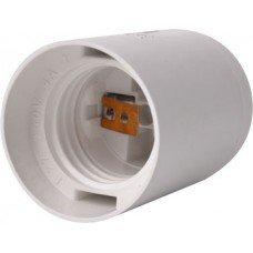 Патрон пластиковый e.lamp E27 белый