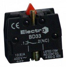 Дополнительный контакт для кнопок и переключателей NC  (ElectrO TM)
