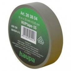 Изолента,  19 мм х 20 м, ПВХ серая (HAUPA)