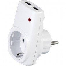 Розетка USB (2А) 16А 250В HOROZ