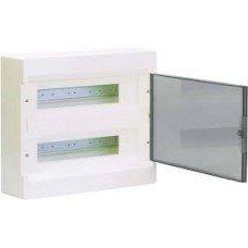 Hager COSMOS Щит з/у с прозрачными дверцами 24 мод.(2х12)