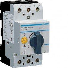 Автоматический выключатель для защиты двигателя, Iуставки=0,4-0,6 А, 2,5М Hager