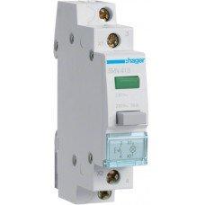 Выключатель кнопочный возвратный 230В/16А, 1НВ, 1м Hager