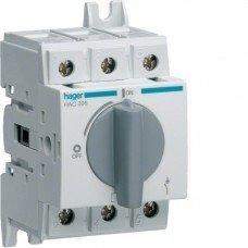 Выключатель нагрузки модульный до 35мм2, 3п 63А, Hager