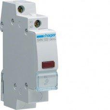 Индикатор LED 230В, красный, 1м Hager