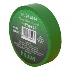 Изолента, 19 мм х 20 м, ПВХ зеленый, HAUPA