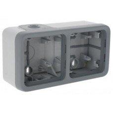 Plexo Коробка для накладного монтажа 2-постовая горизонтальная (в комплекте с сальниками) ІР55, ІК07, Серый