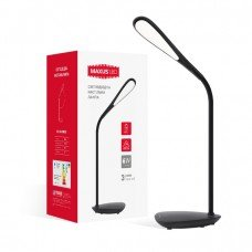 Лампа настольная светодиодная DKL 6W   (MAXUS)  4100K BK  Ellipse