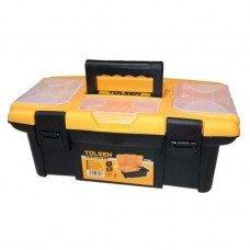 Ящик пластиковый 34х18х13см, 3 органайзера, поддон
