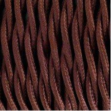 Провод витой в тканевой оплётке (коричневый) 2х1,5 Ретро
