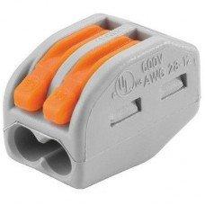 Клемма 2-контактная для распределительный коробок, подключения светильников 0,08-2,5мм², WAGO